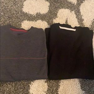 Lot of (2) thermal long sleeve woven shirts.